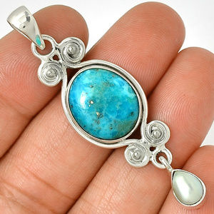 Turquoise 925 Sterling Silver Fresh Water Pearl